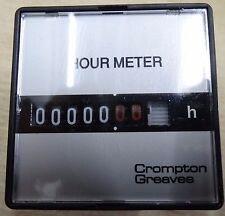 Crompton Greaves Hm-700 110V 60hz 7 digit hour counter E5CSF1