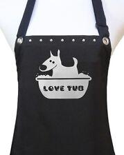LOVE TUB Dog Cat Pet Grooming groomer salon polyurethane waterproof black apron