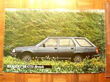 Affiche  Ancienne  RENAULT 18  BREAK  GTD    R 18   sans éditeur   Auto   Poster