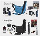 Genuine Lowepro Passport Sling Camera Shoulder Carry Bag For DSLR SLR Universal
