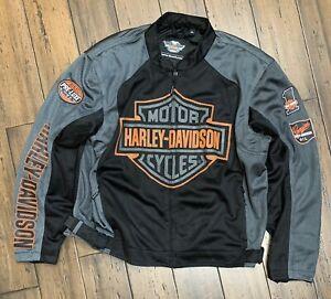 Harley Davidson Men's  Bar & Shield Logo Mesh Jacket 98233-13VM. Size 2XLARGE