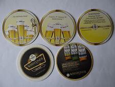 Set mit 5 Bierdeckeln, Warsteiner Brauerei, Warstein,  NRW