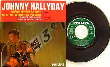 JOHNNY HALLYDAY  QUAND REVIENT LA NUIT CD single  MERCURY 1211435 Edt Code Barre