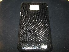 Snakeskin Pattern Hard Cover Case for Samsung Galaxy II S2 i9100 New Black Case