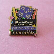 Modern Pentathlon Olympic Festival Rainbow Foods Sponsor Pin
