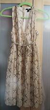 H&M Women's Snakeskin Print Sleeveless Dress - Size 4 (NEW)