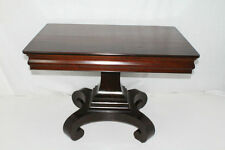 Antique American Empire Rectangular Library Side End Table, circa 19th