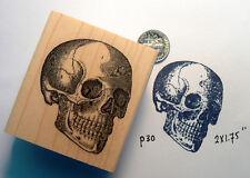 "Skull Rubber Stamp WM 1.5x1.75"" P30"