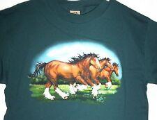 HORSES RUNNING WILD T-SHIRT NWT LARGE