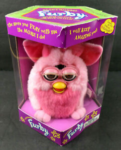 Vtg 1999 Furby Pink w/ Brown Eyes NOS Factory Sealed (Some Box Wear: See Photos)