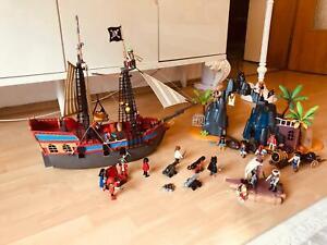 Playmobil 3940 Piratenschiff+6679 Piraten Insel