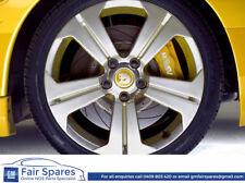 Genuine Set of 4 HSV Z Series VZ SV6000 Yellow Alloy Wheel Centre Caps / Badges