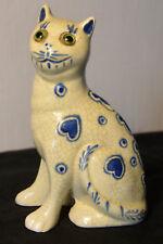 """Sculpture en céramoque """"CHAT"""" style ÉMILE GALLÉ. Art-nouveau."""
