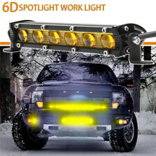 7 Inch Yellow LED 6D Work Fog Light Bar Spot Suv Boat Driving Lamp Offroad 4WD