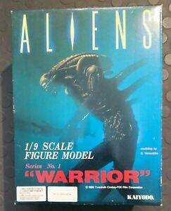Model Kaiyodo Alien Aliens Warrior 1/9 Vinyl Garage Kit Started w/Box Recast? BO