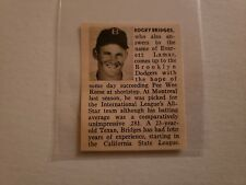 Rocky Bridges Montreal Royals 1952 Minor League Inside BB Panel