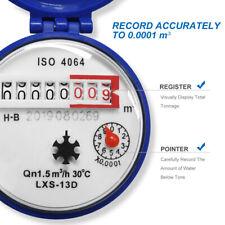 Water Meter Easy to Install Water Flow Meter Cold Water Meter for Garden Home