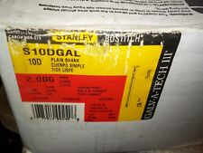 """1400 STANLEY BOSTITCH S10DGAL 10D GALVANIZED PLAIN SHANK GALV-A-TECH III 3"""" NAIL"""