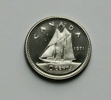 1971 CANADA Elizabeth II Coin - 10 Cents - UNC cameo-lustre (from PL mint set)