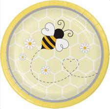 Bumblebee Baby Dessert Plates (8) - Bee Birthday & Baby Shower Party Supplies