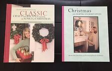 Lot of 2 MARTHA STEWART Christmas Books - Recipes Gifts Crafts Decor ~ 1st / 1st