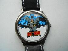 "Fossil ""BATMAN""men's black leather,quartz,battery & water resistant Analog watch"