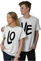 Simple His Hers Clever Matching Couple Gift Short Sleeve T-Shirt Tees Tshirts