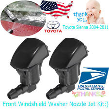 2x Car Front Windshield Washer Nozzle Jet Kit Fit For Toyota Sienna 85381-AE020