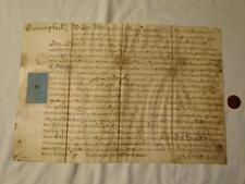 1731 crepping Hall Salomón Grimston firmado Vitela importante documento Essex #Y99