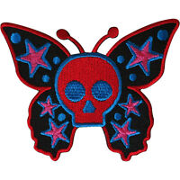 Skull Butterfly Patch Iron Sew On Jacket Dress Embroidered Badge Star Applique
