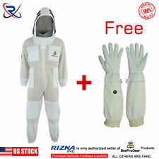 6XL Beekeeping Bee Suit Ventilated Ultra Breathable 3 Layer Mesh Bundle