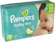 Pampers Baby Dry Diapers, Size 2 37 ea (Pack of 2)