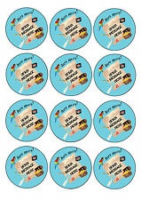 Pirate party themed personalised cupcake toppers 12x6cm A4 icing sheet, birthday