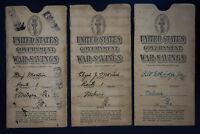 US 1923 Stamp Savings Book Sleeve Group