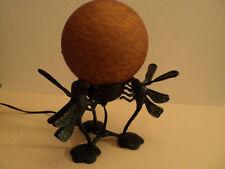 Dragonfly Lamp - Art Deco Style - Bronze Base Porcelain (?) Globe - Unique