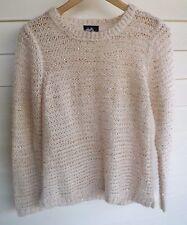 Dotti Women's White & Bronze Sequin Knit Jumper - Size S