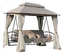 Garden Swing Hammock 3-4 Seater Bench Chair Bed Gazebo for Outdoor