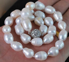 Natural 11-13MM Genuine White Akoya Baroque Pearl Necklace 18""