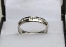 Palladium Diamond Set Wedding Band / Ring 0.25ct Size M 1/2