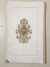 Antique 1853 Songs Of Psi Upsilon Fraternity Beta Chapter Yale College