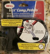 """BELL 9/16"""" Comp Pedals Fits Most Multi Speed BMX And Mountain Bikes NEW"""