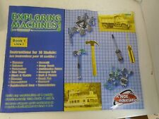 K NEX Education Exploring Machines Educational Game Instructions Only Book 1