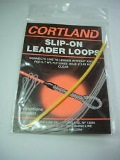 Slip-On Leader Loops Braided Clear 30lb Hand Made