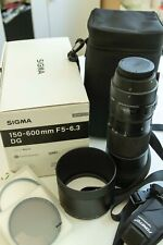 Sigma 150-600mm F5-6.3 DG OS HSM Lens in prime condition