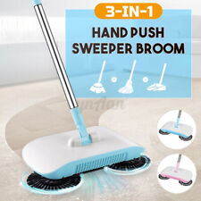 3IN1 Hand Push 360° Spin Broom Sweeper Cleaner Floor Cleaning Mop