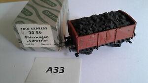 "A33.1e Trix Express 20/86 H0 DB offener Güterwagen ""Schwerin"" - gebraucht"