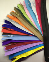 Lot Of 50 Nylon Zippers Assorted Color Wholesale!  7 inch & 9 inch