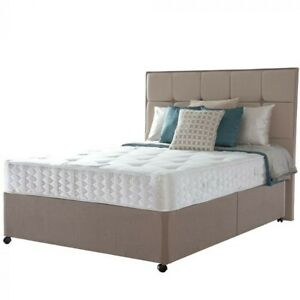 Hotel Single Sealy Rydal Reinforced Divan Bed Contract Bed & Mattress RRP £439