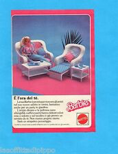 TOP986-PUBBLICITA'/ADVERTISING-1986- MATTEL - BARBIE - I MOBILI IN VIMINI