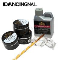 Acrylique Poudre Liquide Ongle Resine Base Pinceau Brosse Manucure Nail Art Kit